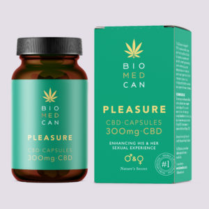 CBD and specific herbs combined to with pleasure and sexual arousal